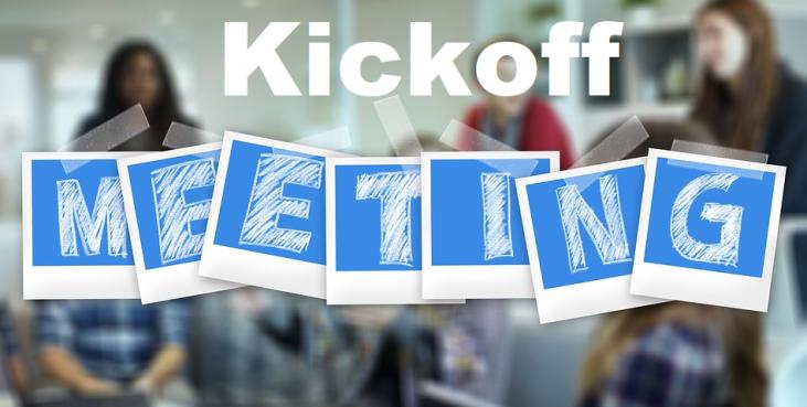 reunión de kick off para desarrollo de software